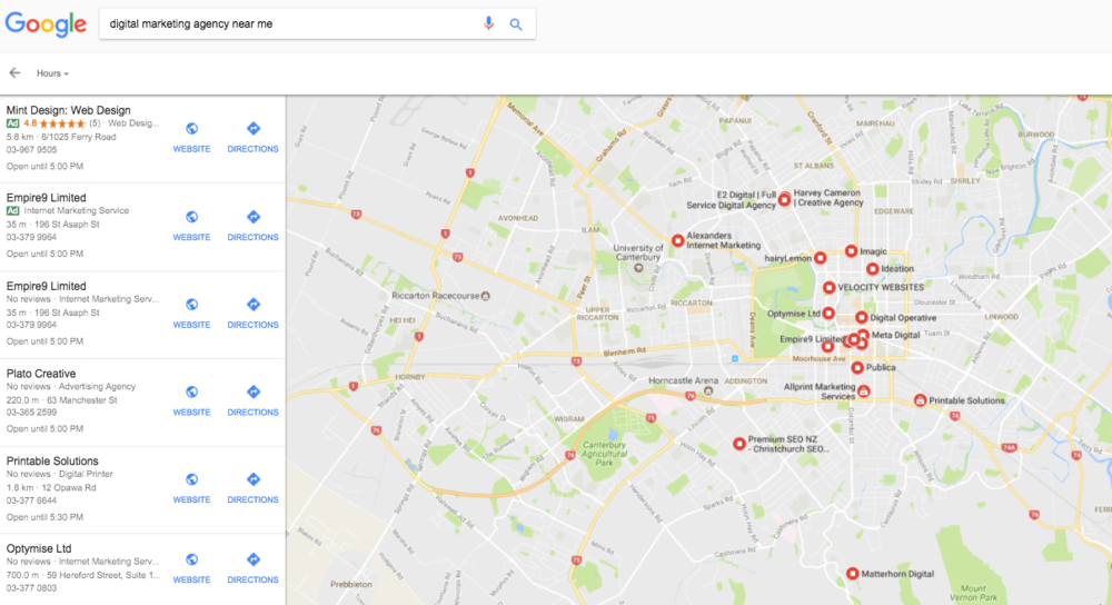 "GOOGLE MY BUSINESS LISTINGS FOR ""DIGITAL MARKETING AGENCY NEAR ME"""