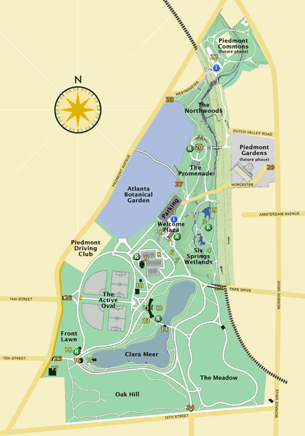 piedmont park map more detail