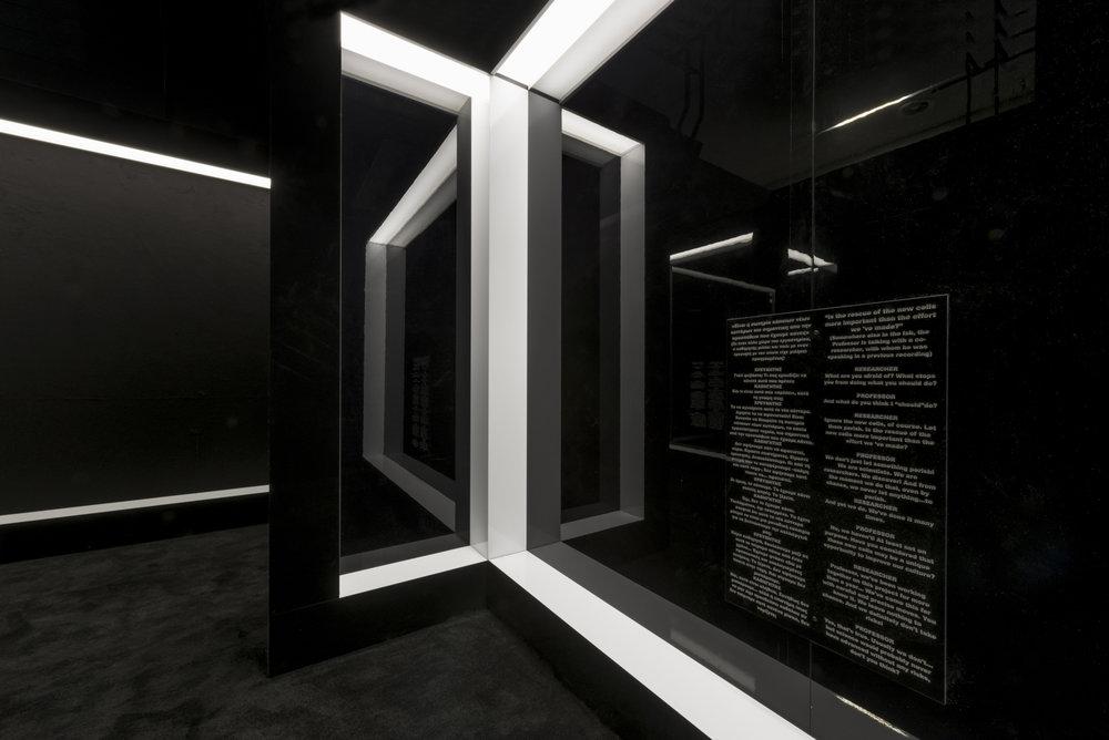 Roundcube architectural photography,  maria mavropoulou, Μαρία Μαυροπούλου,   φωτογράφιση εκθέσεων, φωτογράφιση εσωτερικών χώρων, φωτογράφιση έργων τέχνης, αρχιτεκτονική φωτογραφία, Laboratory of Dilemmas, Εργαστήριο Διλημμάτων, Γιώργος Δρίβας,  George Drivas, Orestis Andreadakis, Ορέστης Ανδρεαδάκης, ΕΜΣΤ, emst, National Museum of Contemporary Art , Εθνικό μουσείο σύγχρονης τέχνης,  Athens, Greece