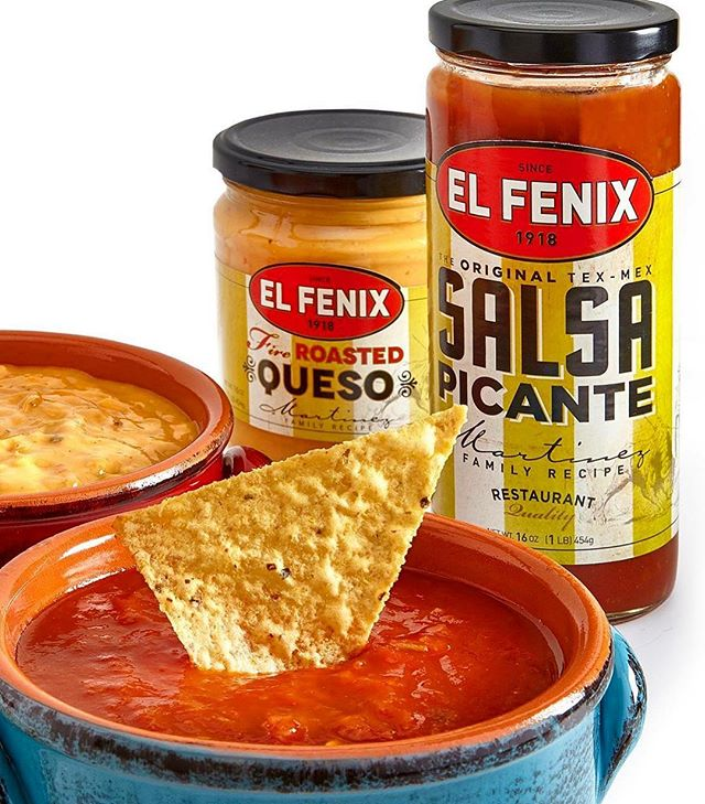 To keep it spicy this Valentine's Day, pick up a jar of our world-famous El Fenix salsa - available at any location and participating grocery stores! #ElFenix