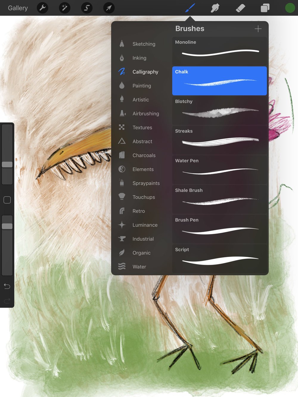 Find the perfect digital drawing tool in Procreate.