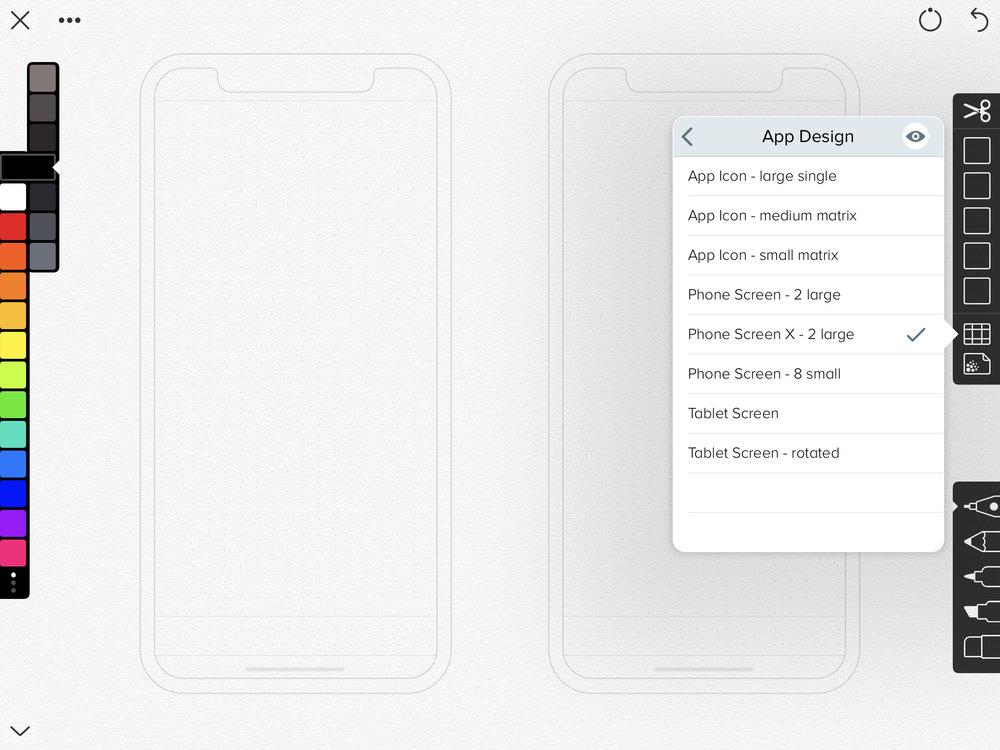 Linea is a design/sketch hybrid app