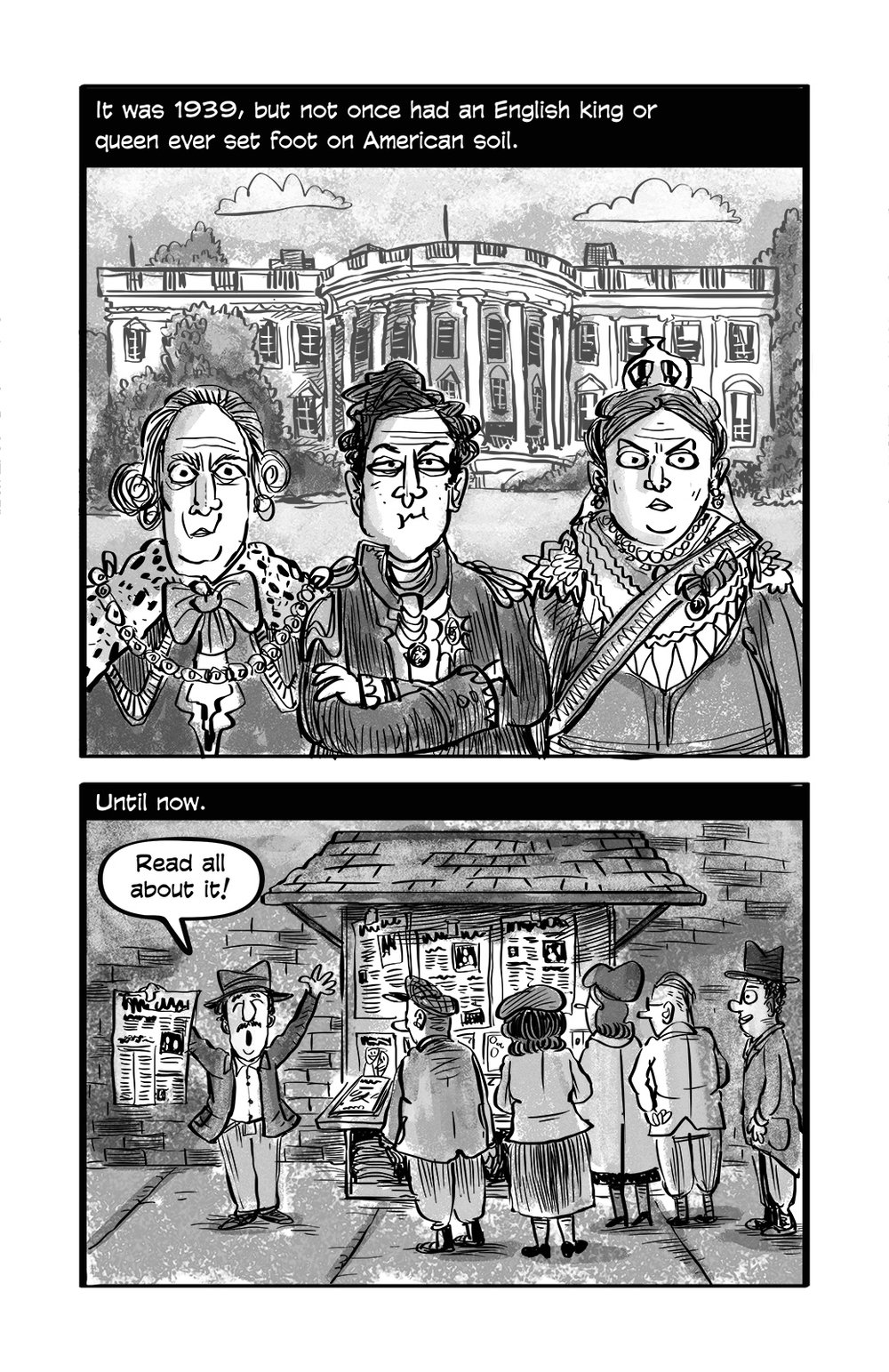 It also features 4 graphic novel style stories based on actual events in Eleanor Roosevelt's life.