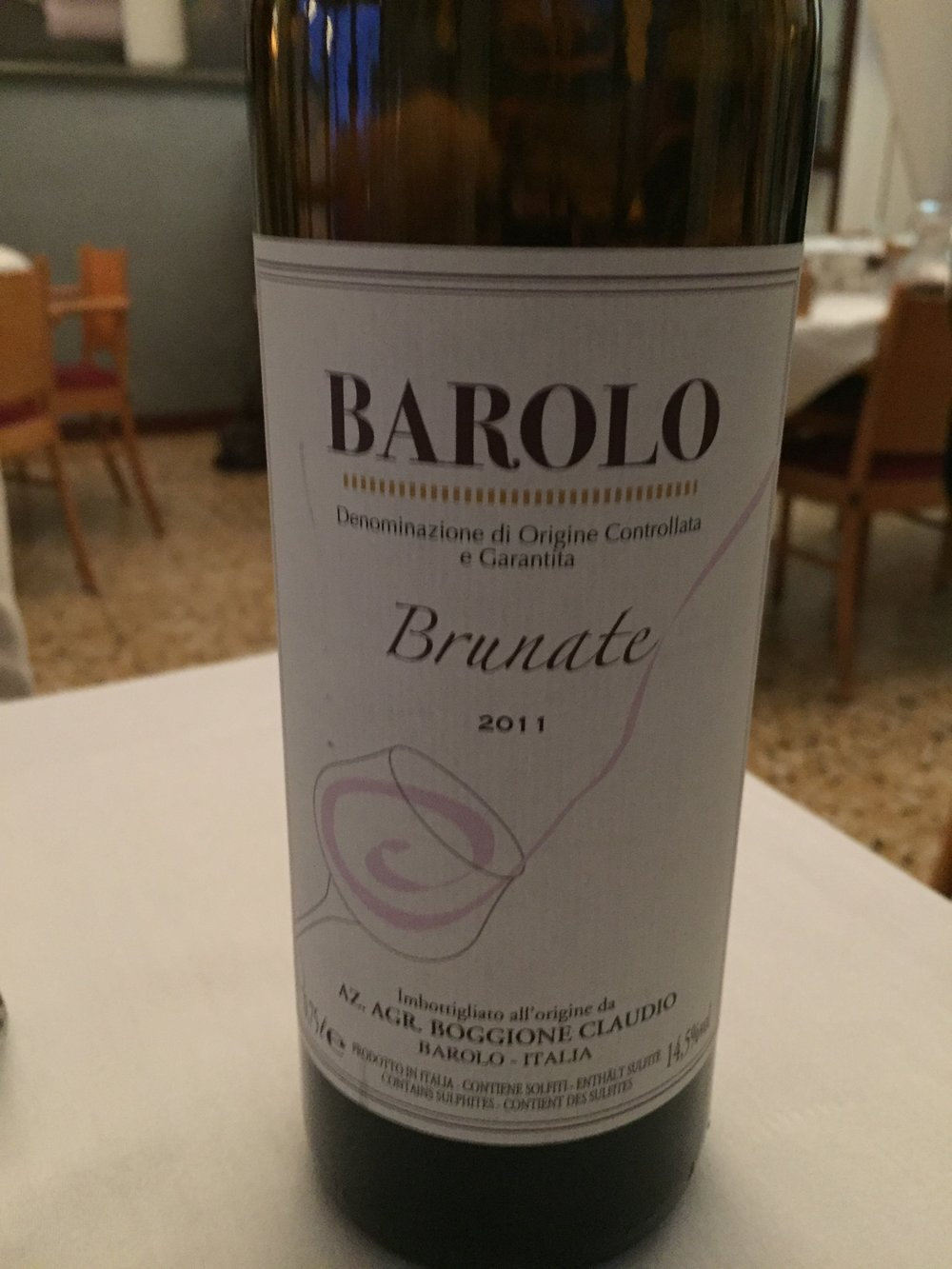 Drinking Barolo while visiting Barolo is just the best!