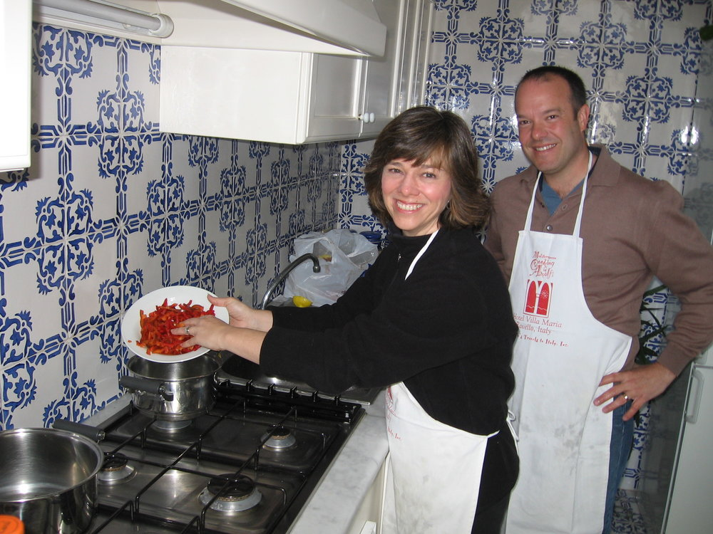 "Cooking with Vincenzino  in  Ravello, Italy   - maybe we'll get to do some cooking when we ""workaway"" next year!"