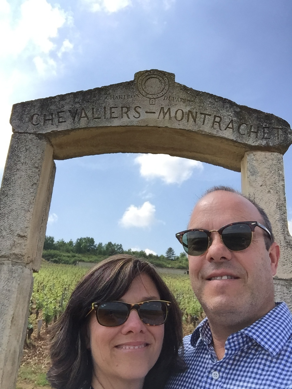 When I get frustrated with technology I imagine myself here, in  Burgundy, France.   Alright, we need to work on our selfie skills, too......