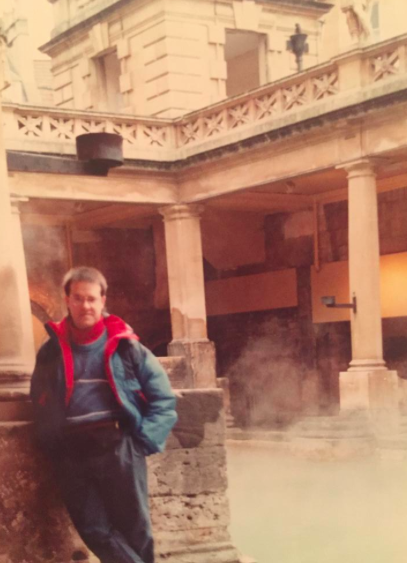 December, 1990 - Greg in  Bath, England  - before he got sick
