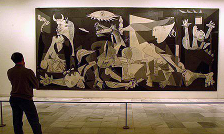Guernica,  1937 by Pablo Picasso in the  Museo Reina Sofia  in  Madrid, Spain