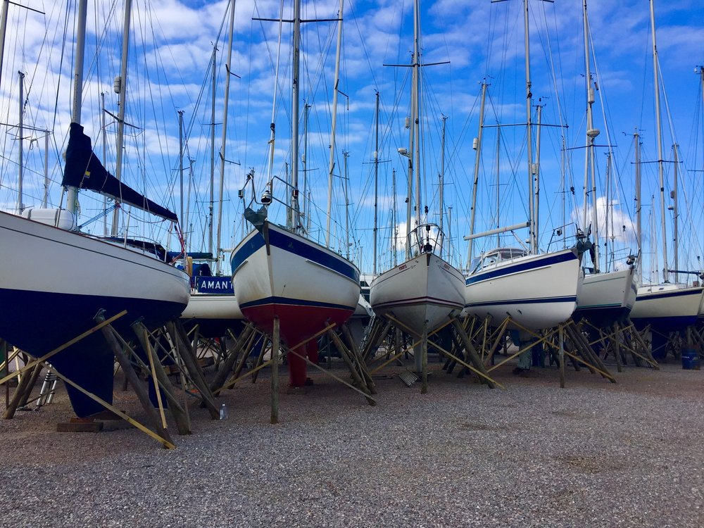 The boat yard in Lymington, just south of Brockenhurst