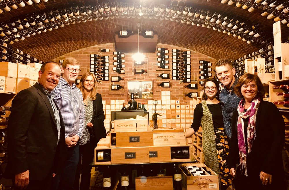 In the wine cellar at Ciau del Tornavento in the Piedmont region of North West Italy. The wine and food in Piedmont is spectacular!