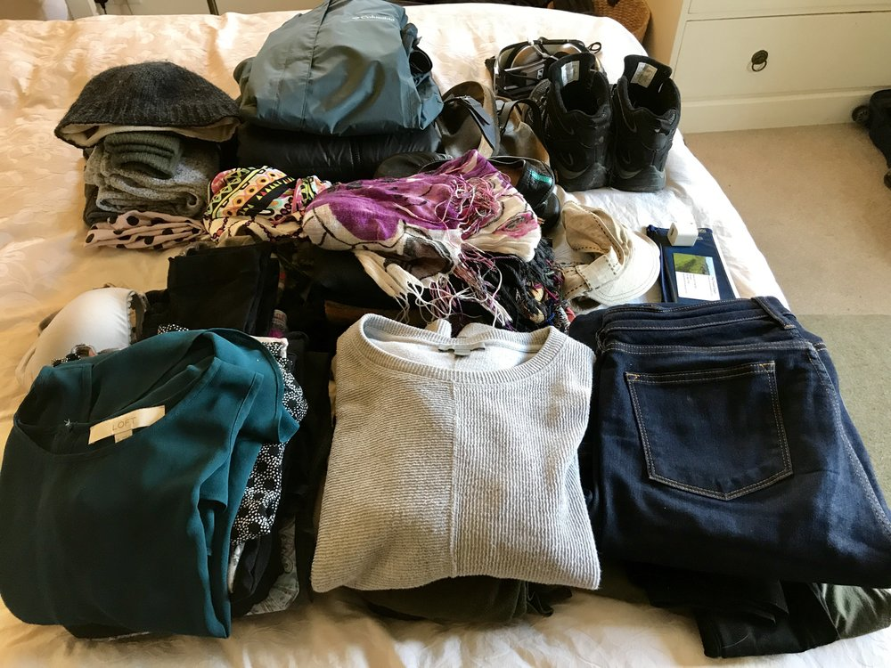 Stacked and ready for the suitcase!