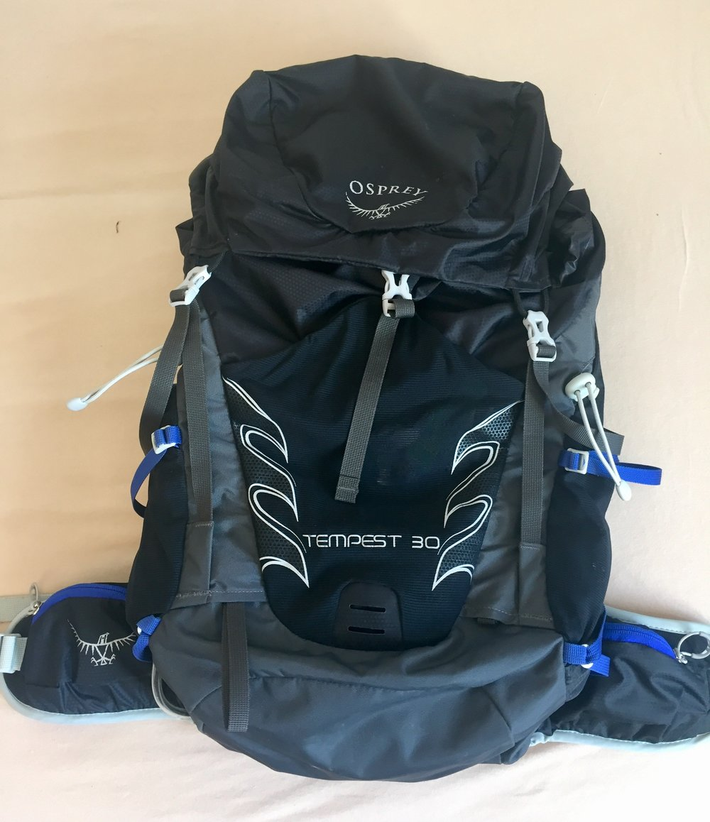 Love my Osprey Tempest backpack as my second bag.