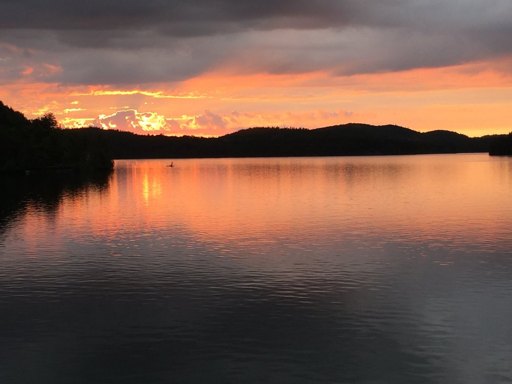 One of the beautiful sunsets at the lake