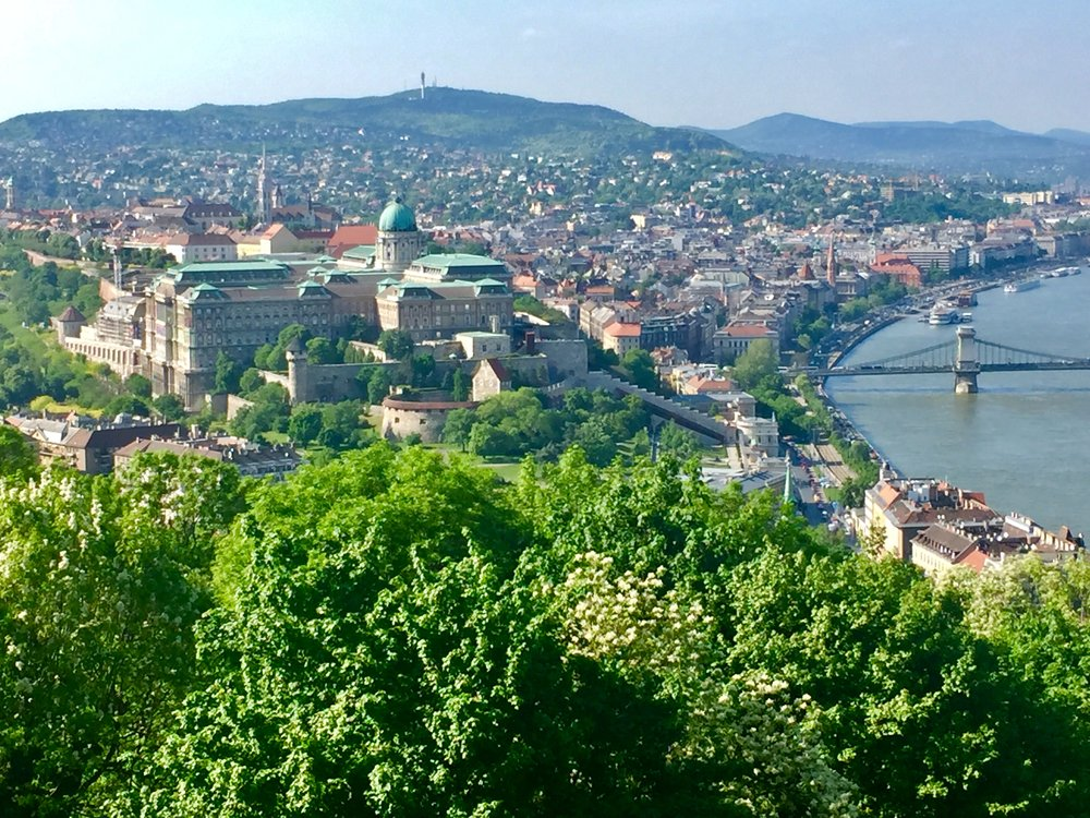 The Buda side of the Danube taken from the Citadel