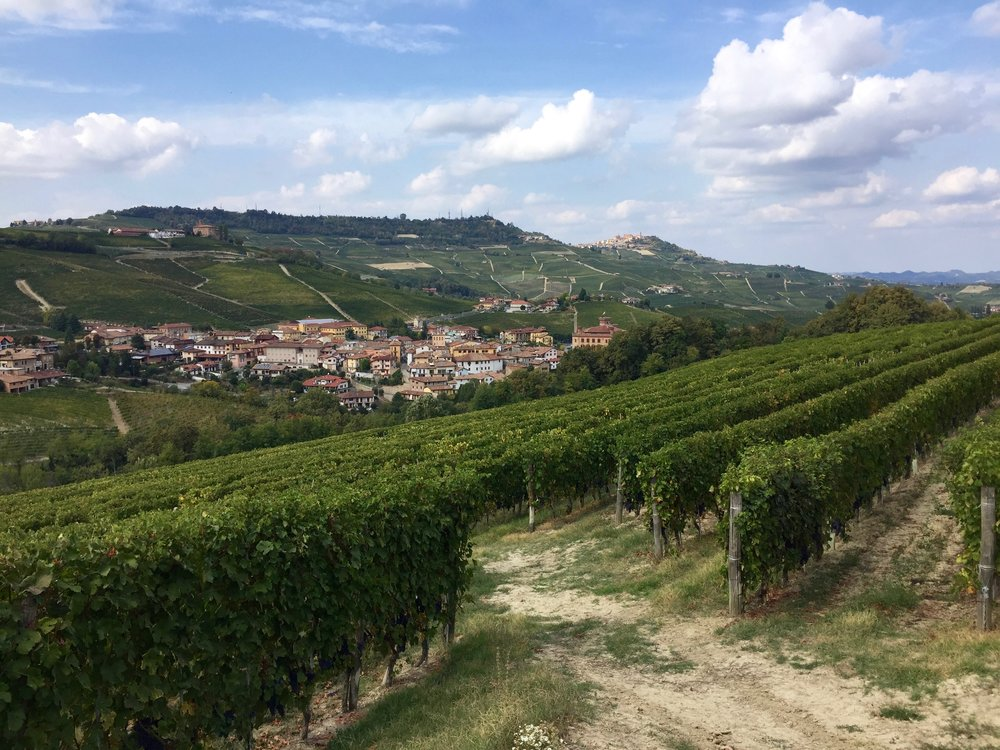 La Morra on the far hill, Barolo in the valley