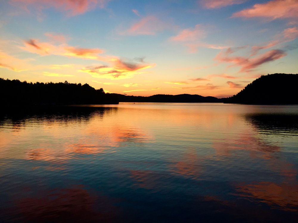 One of our beautiful sunsets at the lake