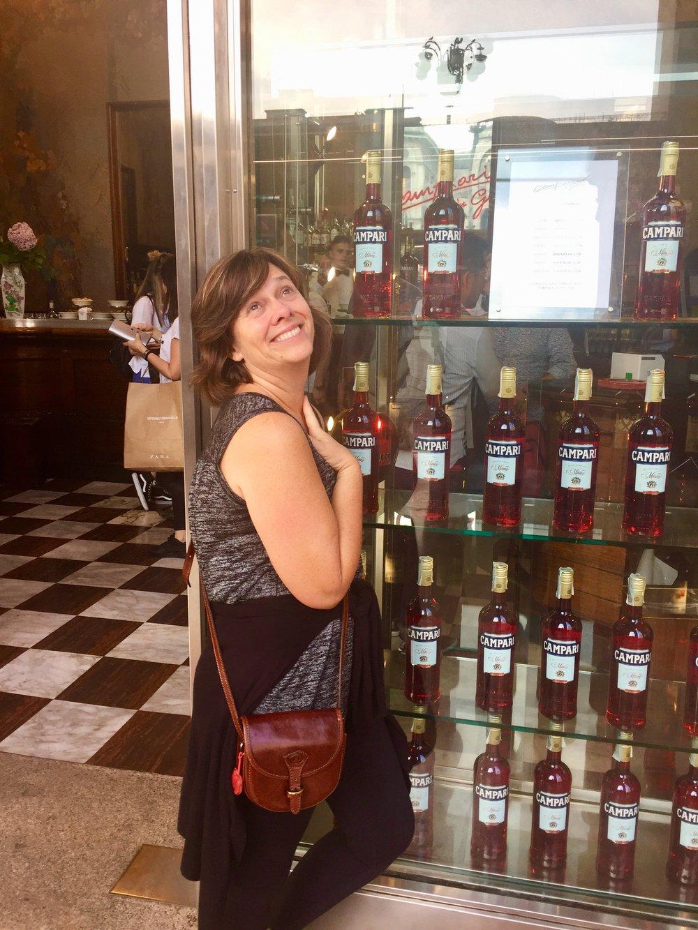 Betsy in   Campari   heaven