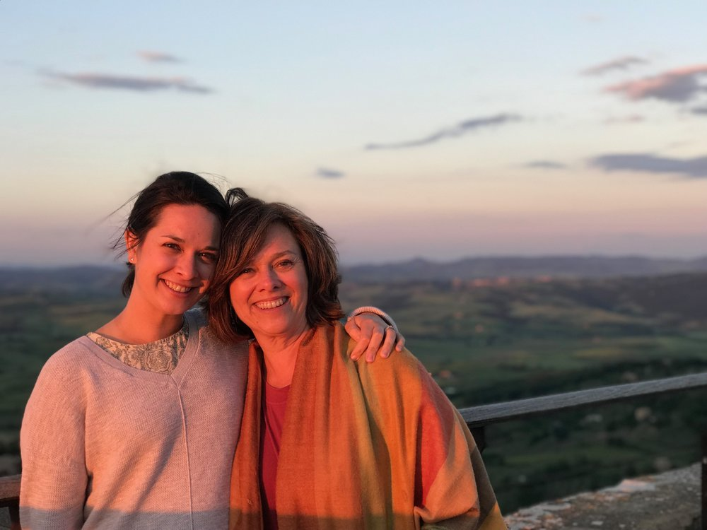 Chelsea and Betsy of the Euro Travel Coach Team in Montalcino