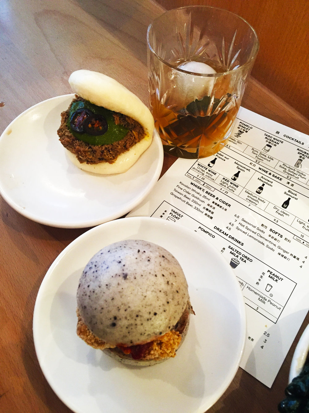 Delicious bao buns and a tasty cocktail at Bao Soho
