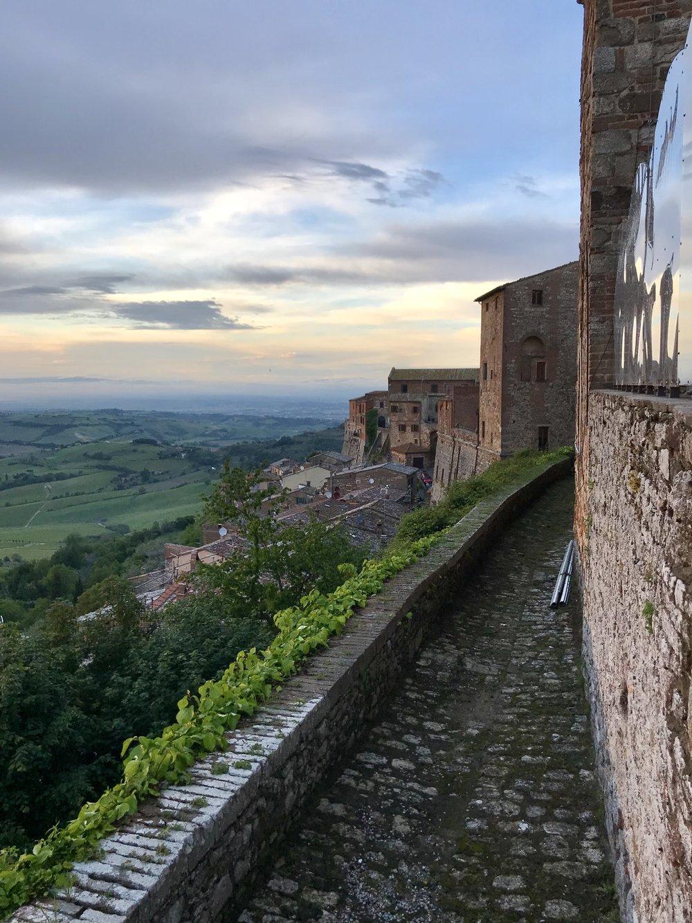 Montepulciano at sunset