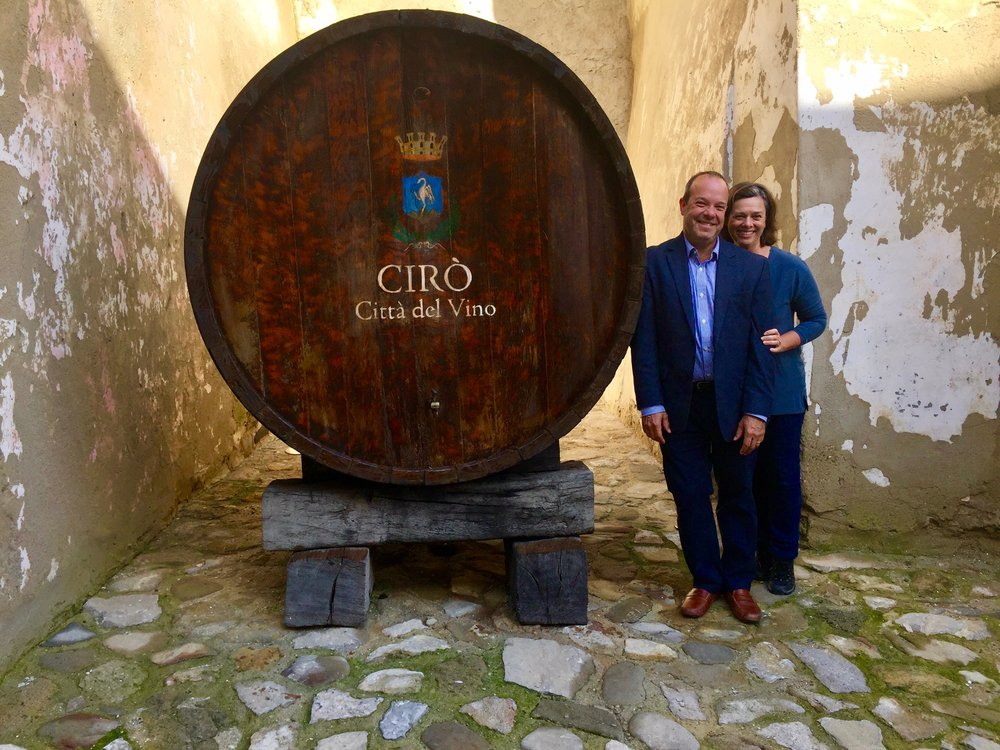 Euro Travel Coach visiting Cirò, Italy