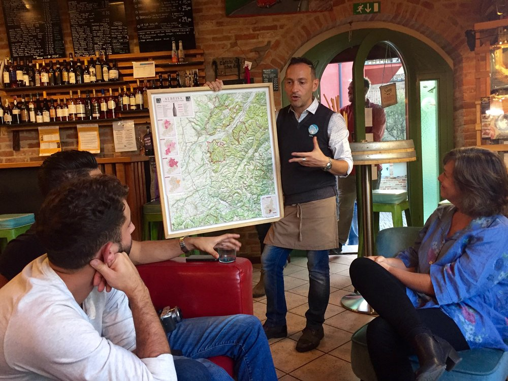 Our friend Stefano at   La Vite Turchese   discussing the great wines of Piedmont. Our guests on our   Piedmont Small Group Tour   will get to taste here — he's amazing!