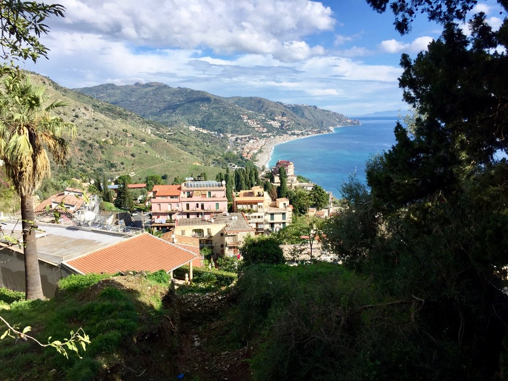Visiting the beautiful eastern coast of Sicily doing research for a possible Small Group Tour.