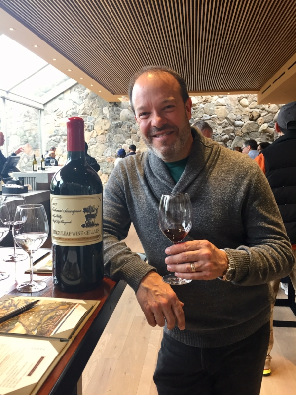 Greg enjoying an outstanding wine tasting at   Stags Leap Wine Cellars   in Napa.