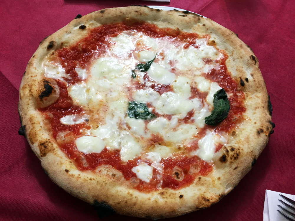 Margherita pizza at Di Matteo
