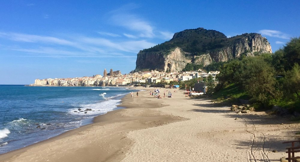 The beach at Cefalù - Sicily, Italy