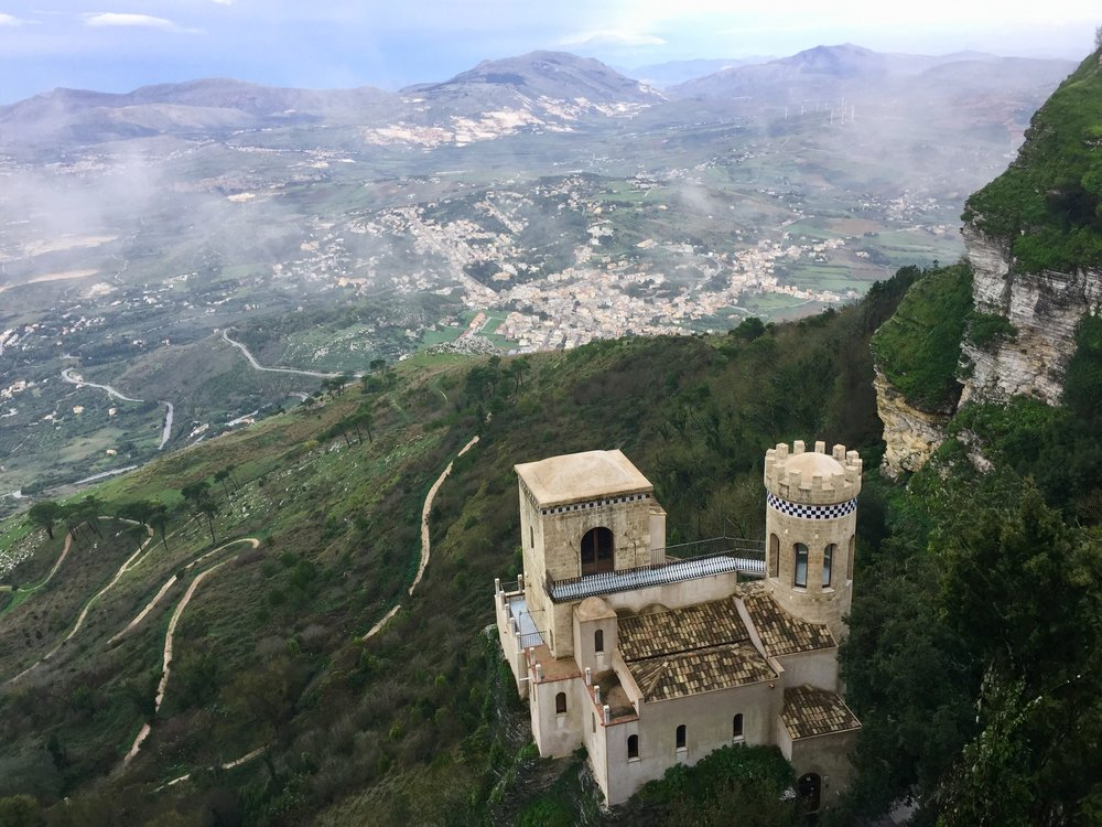 Beautiful view from Erice during a brief clearing!