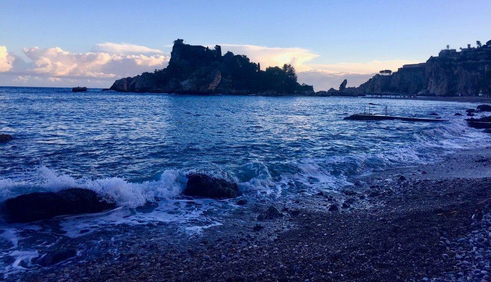 Isola Bella at dusk