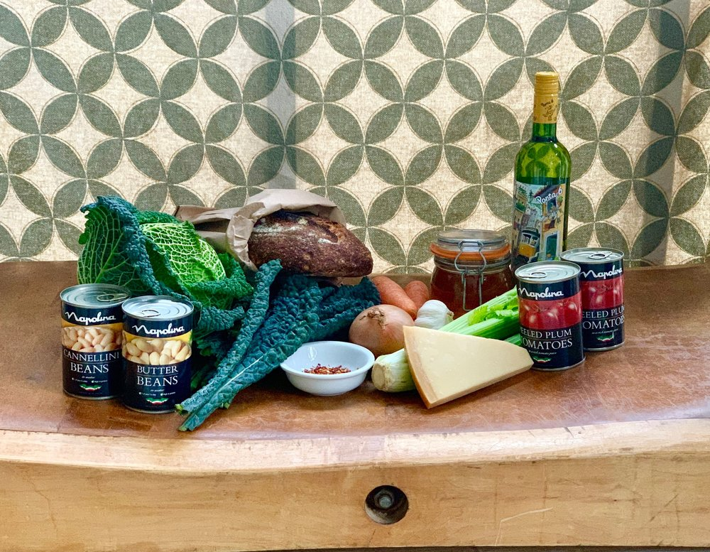 Ingredients for ribollita soup