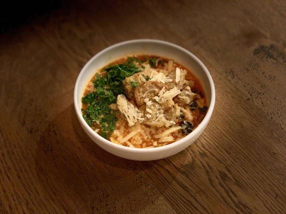 Delicious Ribollita soup, perfect for getting you through the last few weeks of winter.