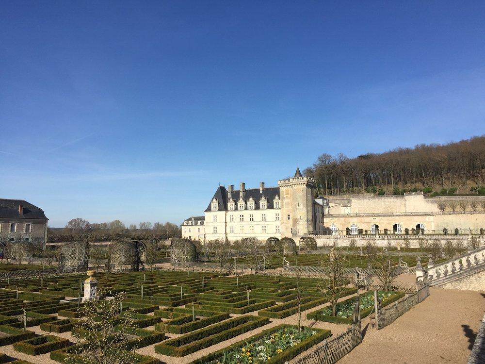 The gardens of Château de Villandry in the Loire Valley