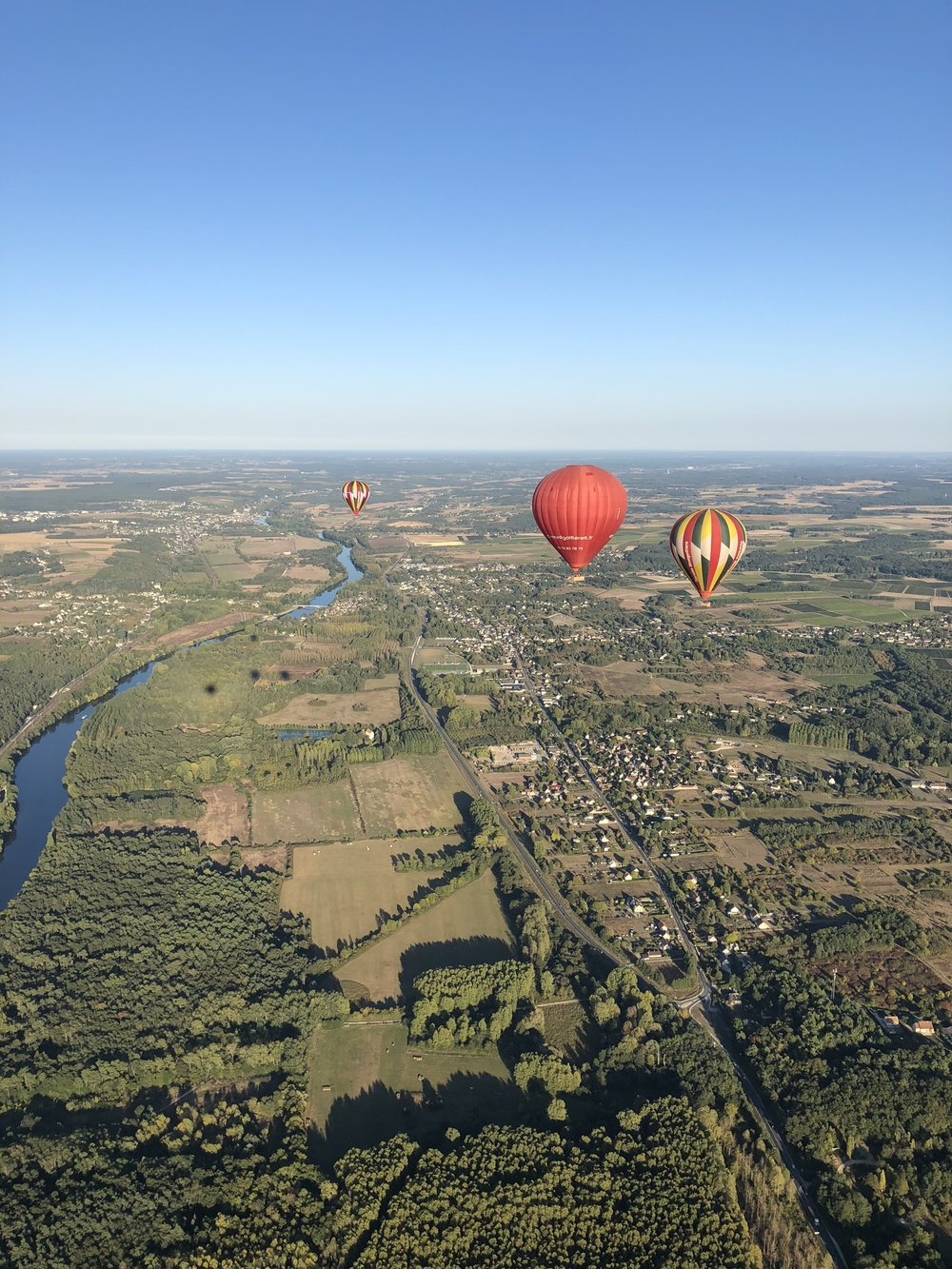 Views from a hot air balloon ride in the Loire Valley