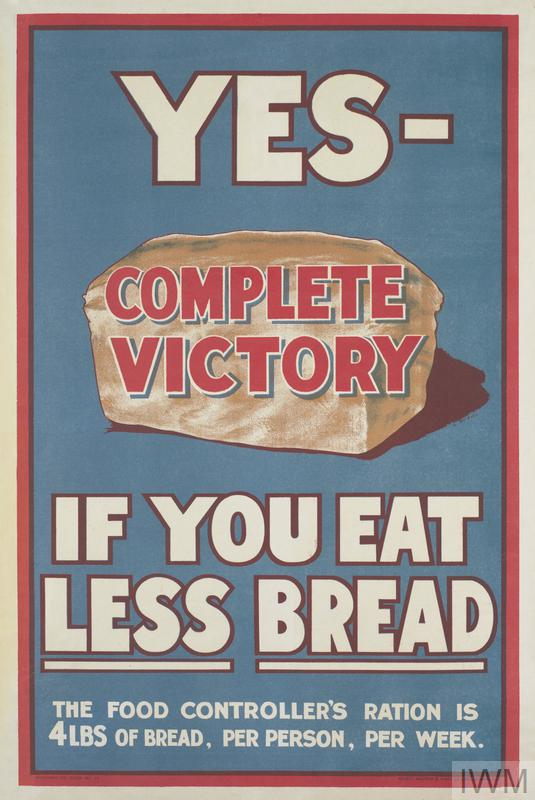 A British WWII propaganda poster. Many countries during WWII faced food shortages© IWM (Art.IWM PST 13369)