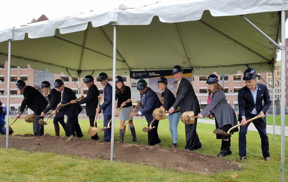 Marquette University Breaks Ground for New Residence Hall