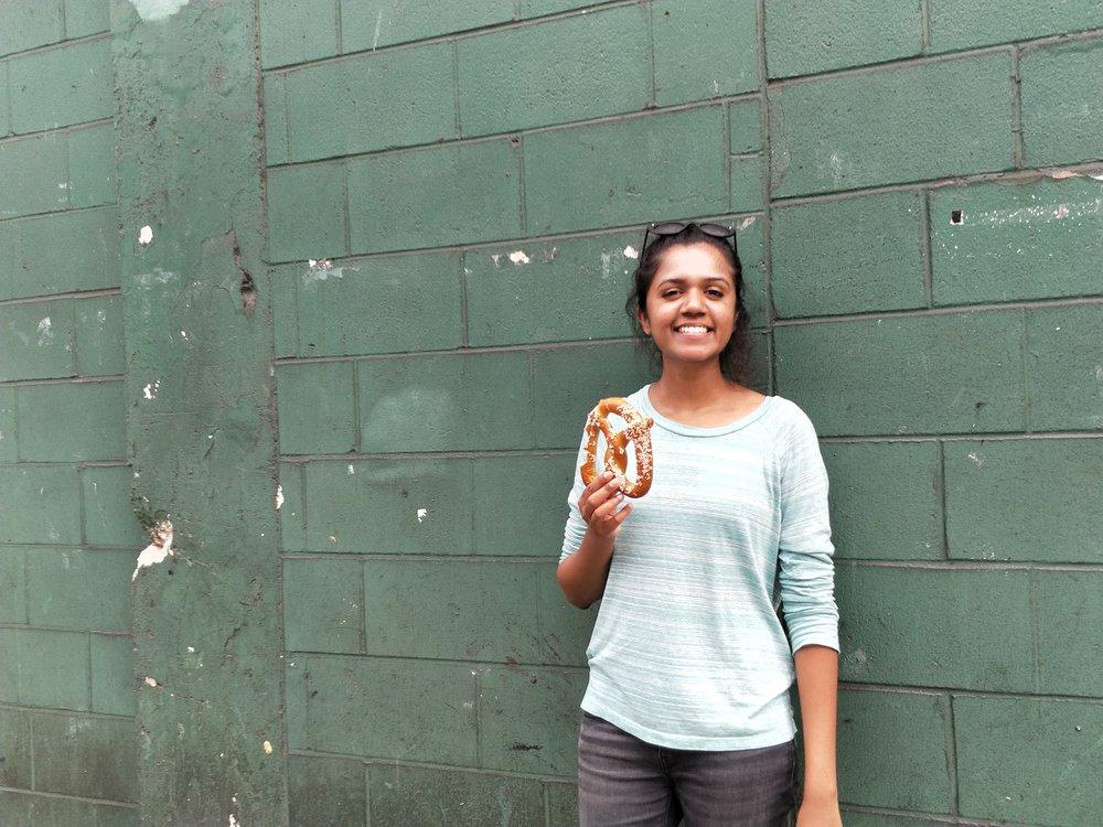 Anjali Moorthy at Fenway Park