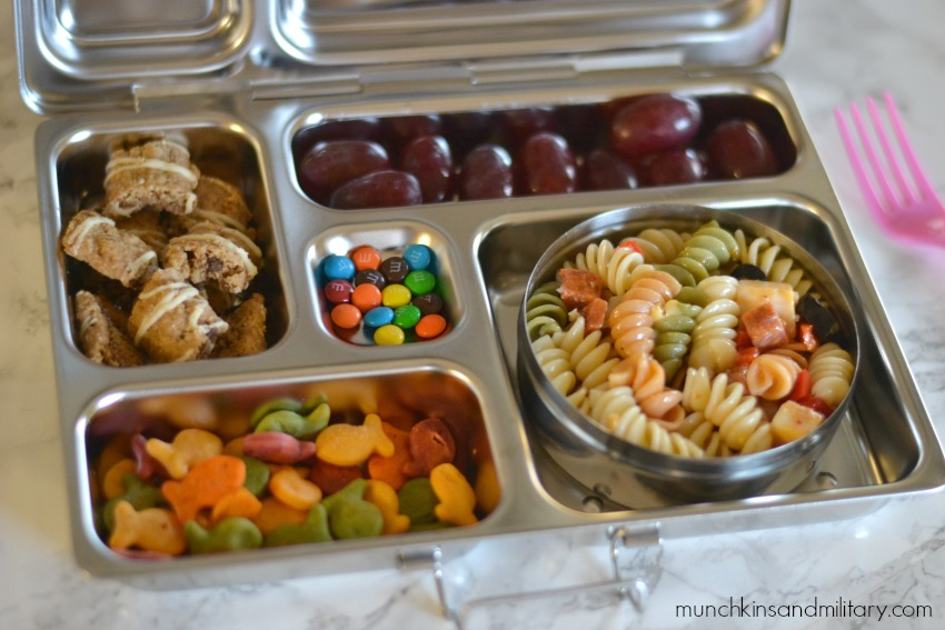 easy pasta bento lunch
