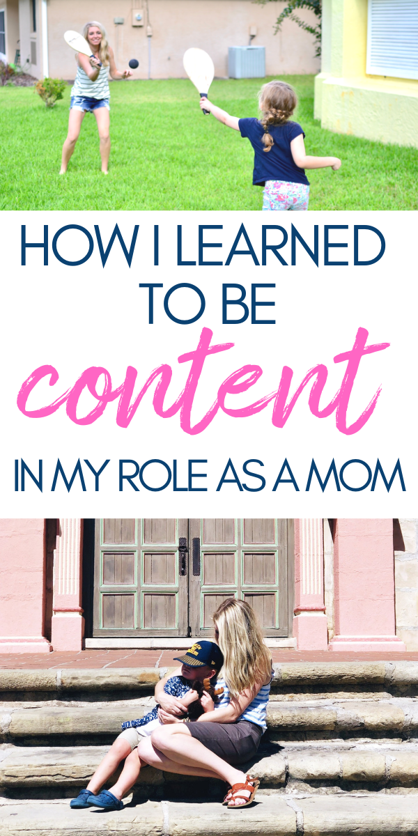 How I learned to be Content as a mom