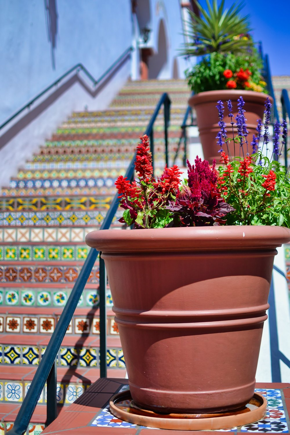 Best Spot for Photos in Santa Barbara - Painted Tile Stairs