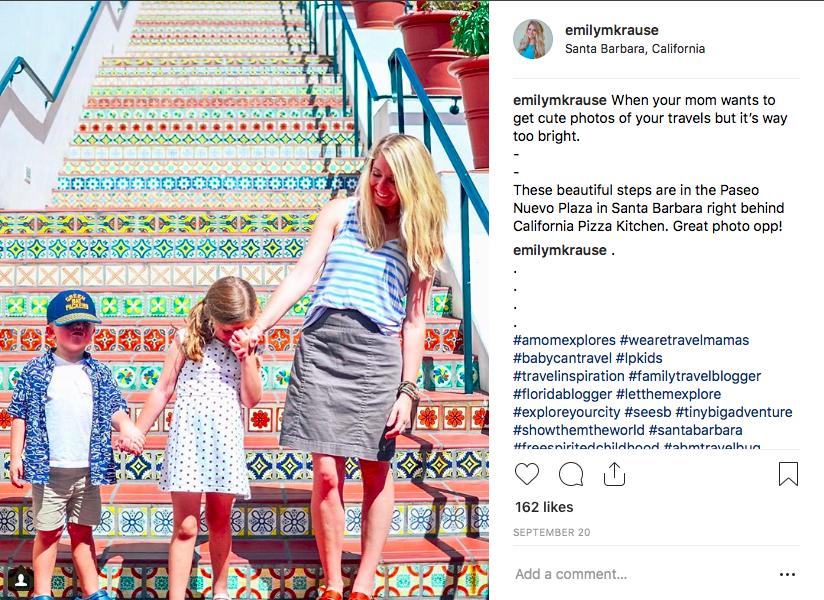 Instagram Spot in Santa Barbara Painted Tile Steps