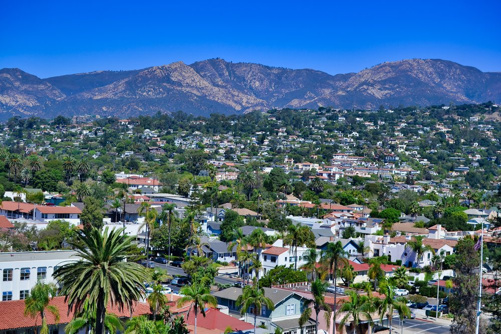 Santa Barbara View from Courthouse