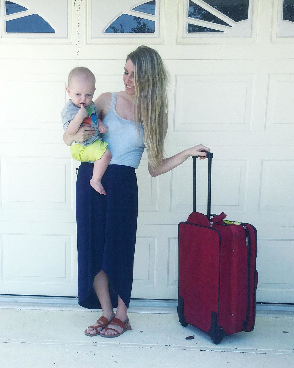 minimalist packing with kids