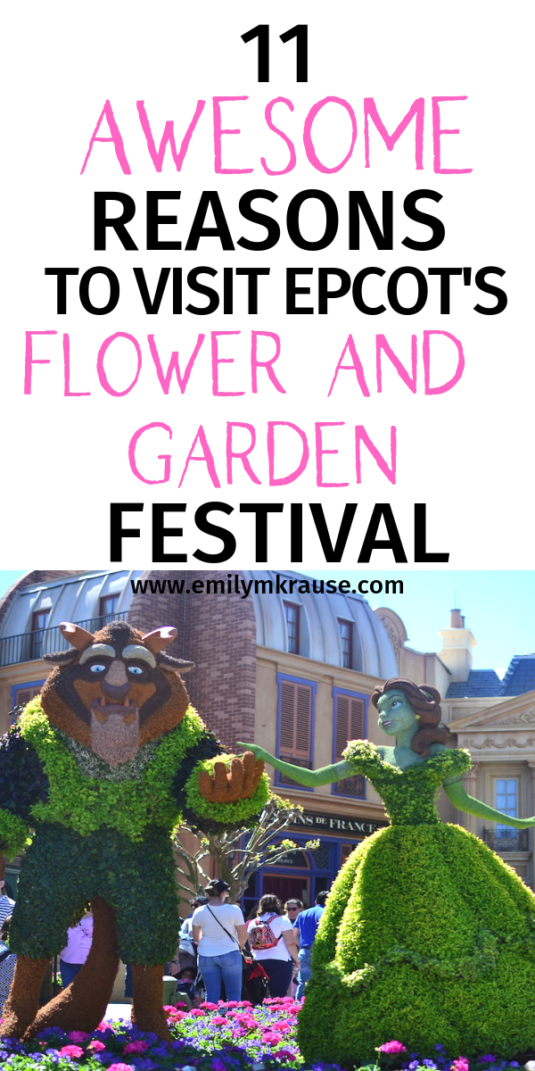 11 reasons to visit Epcot's Flower and Garden Festival in 2019. Plan your spring break to Disney World with a visit to Epcot. .png