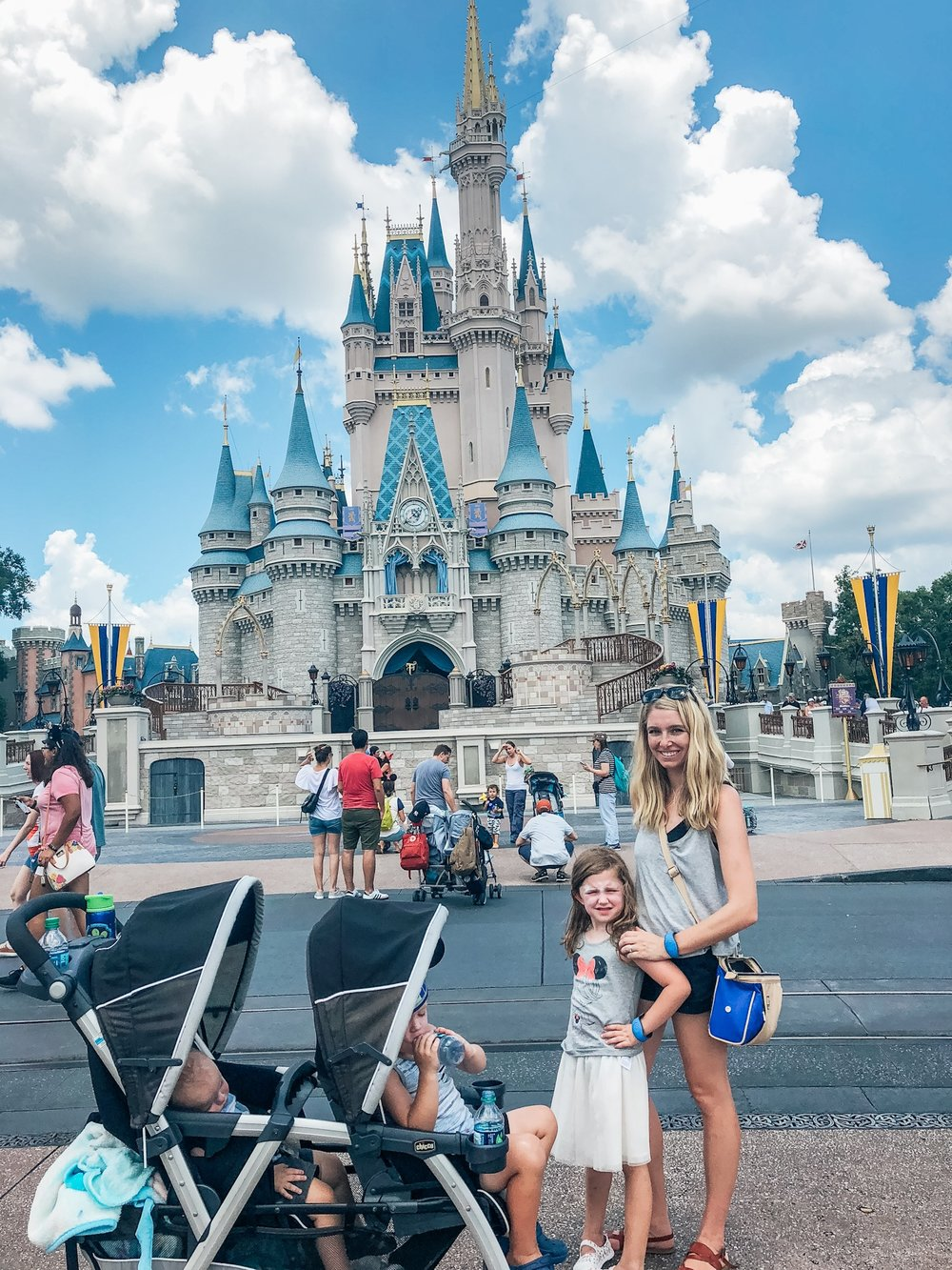 Stroller at Disney World with baby