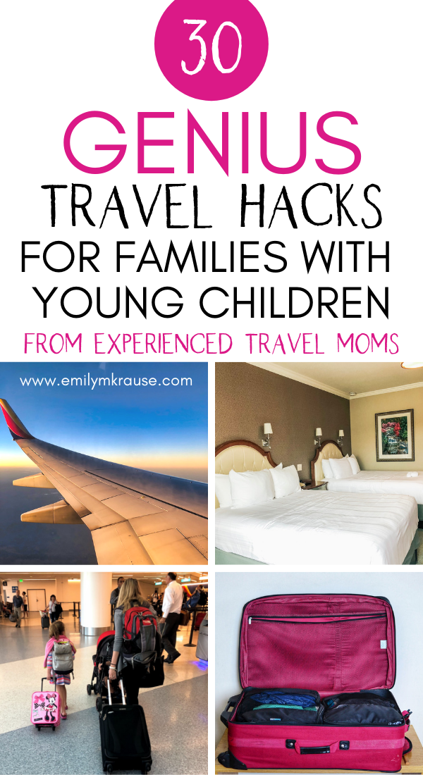 Taking a family vacation soon? The best baby and toddler travel hacks from experienced parents including_ toddler hotel hacks, entertainment and snack ideas for a long plane ride, and packing hacks for little kids. T.png