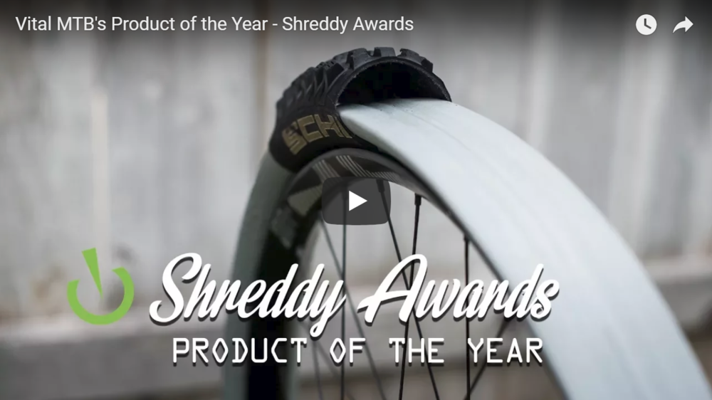 Product of the Year - 2017 Vital MTB Shreddy Award