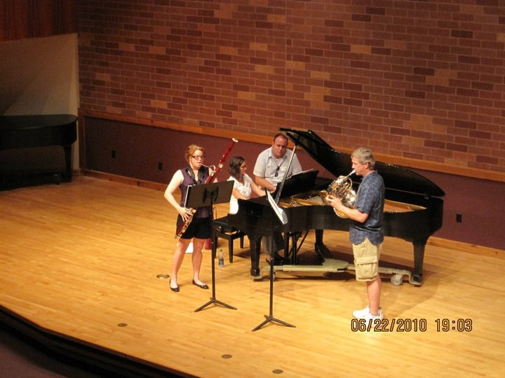 Rehearsal for the International Double Reed Society Conference in Oklahoma with Bill Bernatis, horn and Carolyn Grossmann, piano